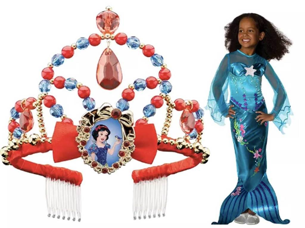 disney crown and mermaid