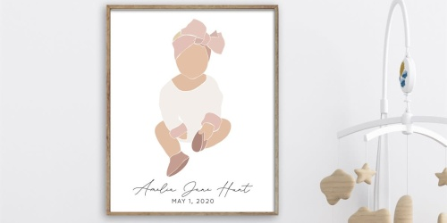 Personalized Child Print Just $12.97 Shipped (Regularly $25) | Great Baby Shower or Grandparent Gift
