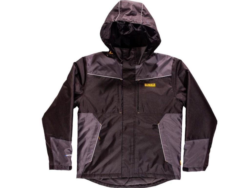Dewalt black and gray waterproof jacket