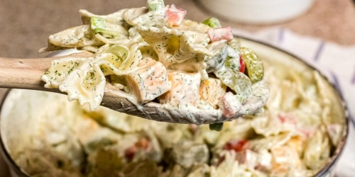 Easy Dill Pickle Pasta Salad Recipe