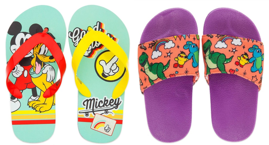 disney sandals mickey mouse and toy story
