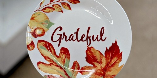 Thanksgiving & Fall Ceramic Dinnerware Only $1 at Dollar Tree