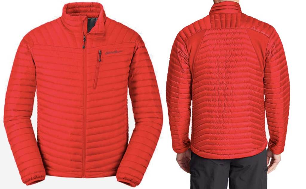 man's red jacket