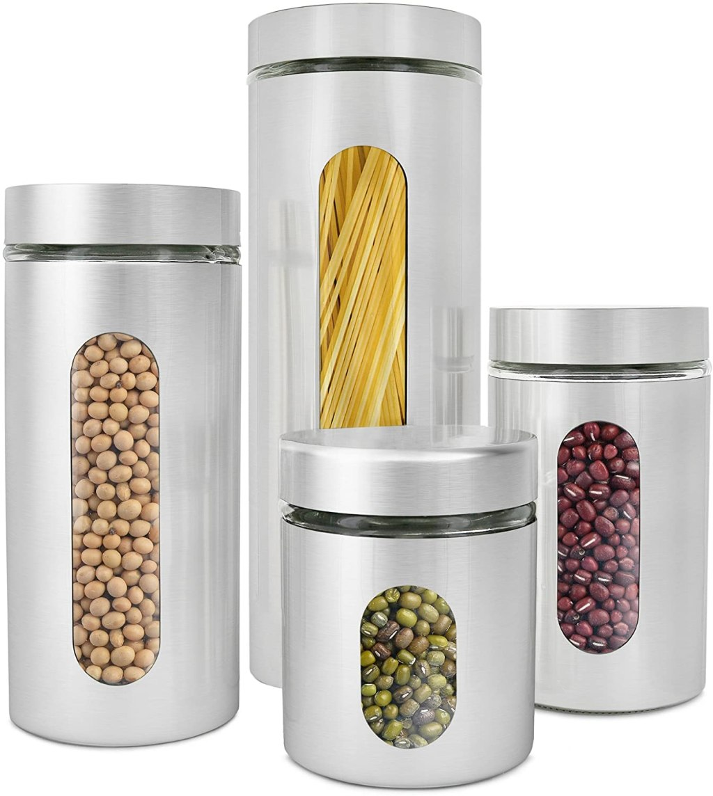 stainless steel canisters w/ window
