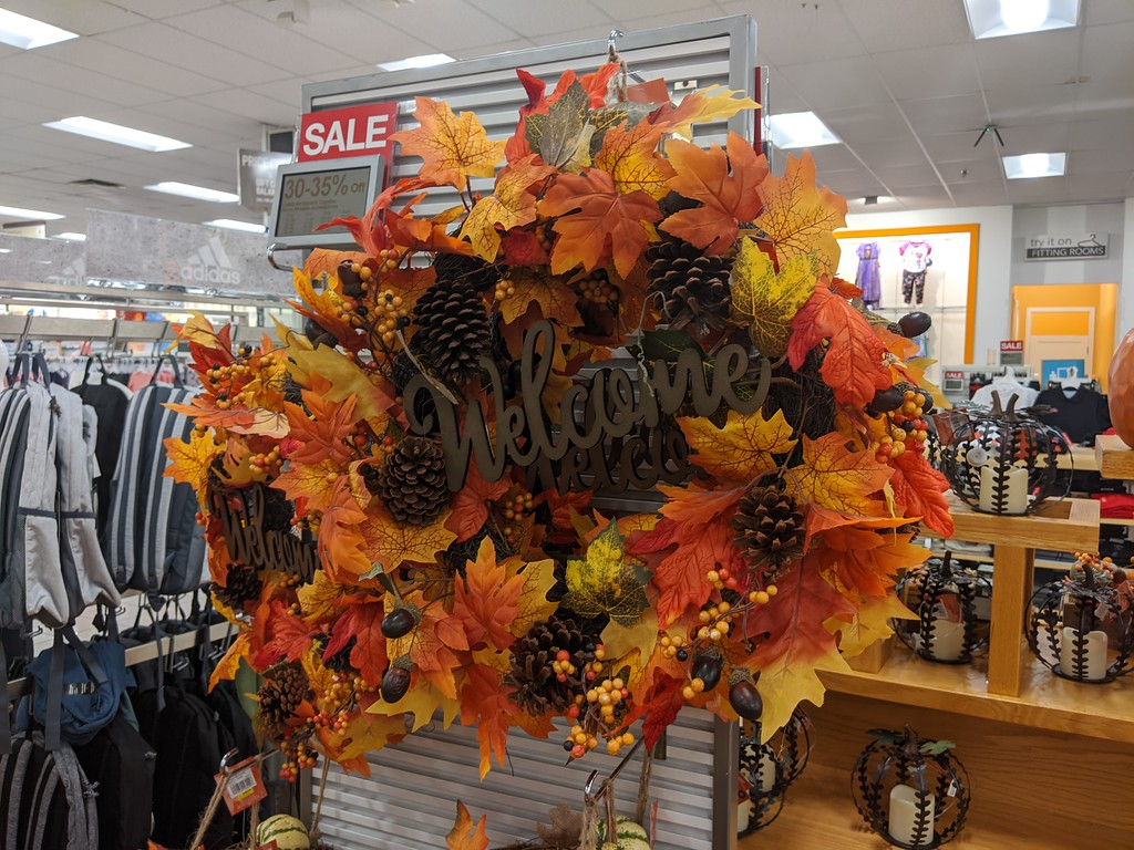 fall welcome wreath at kohls