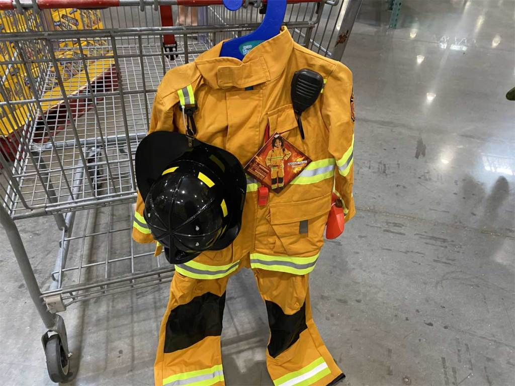 child's fire fighter costume