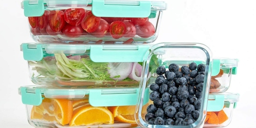 Glass Food Container 10-Pack Set Just $25.49 on Amazon (Regularly $30)