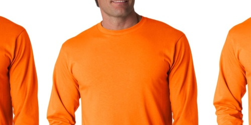 Fruit of the Loom Men's Long Sleeve Tees 6-Pack Only $19.99 Shipped for Amazon Prime Members