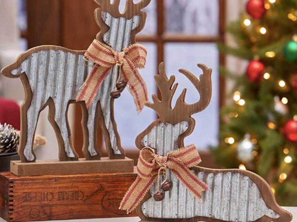 deer figures christmas decor