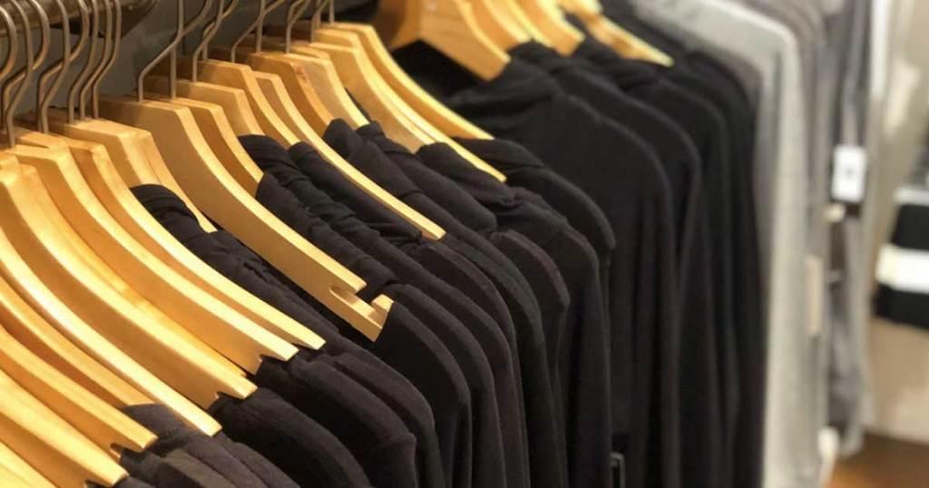 tshirt on hangers