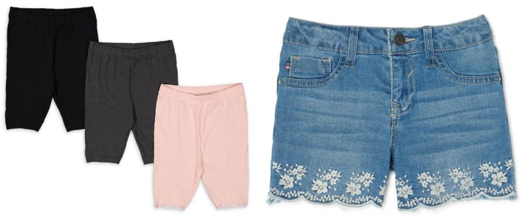 girls shorts from walmart