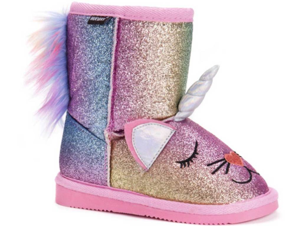 unicorn glitter little girls boots