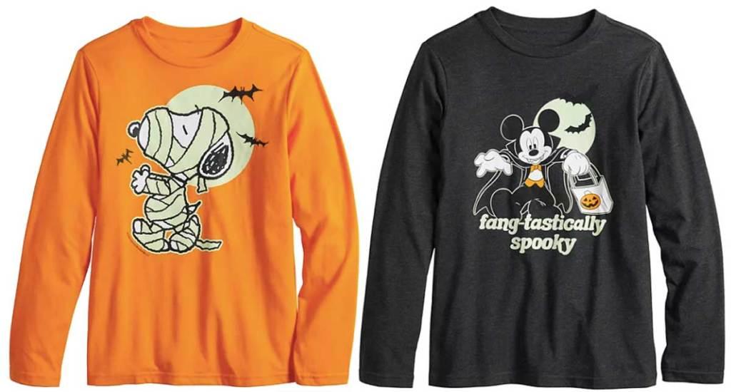 toddler glow in the dark halloween t shirts