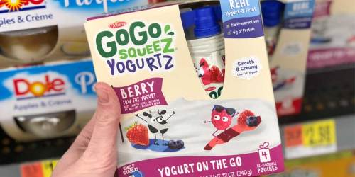 $1/1 GoGo SqueeZ Coupons = 4-Packs from 44¢ After Cash Back at Target