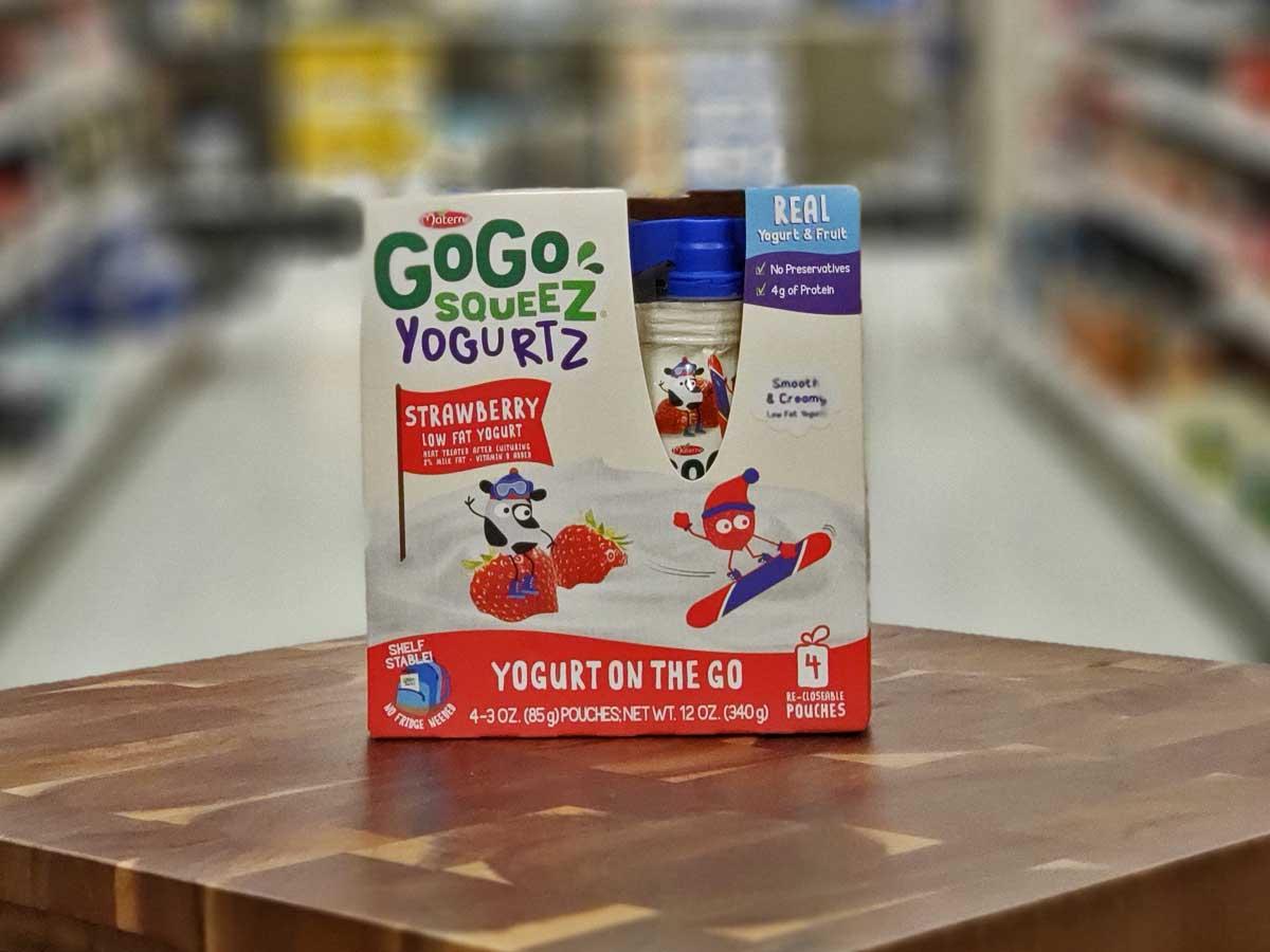 box of yogurt pouches