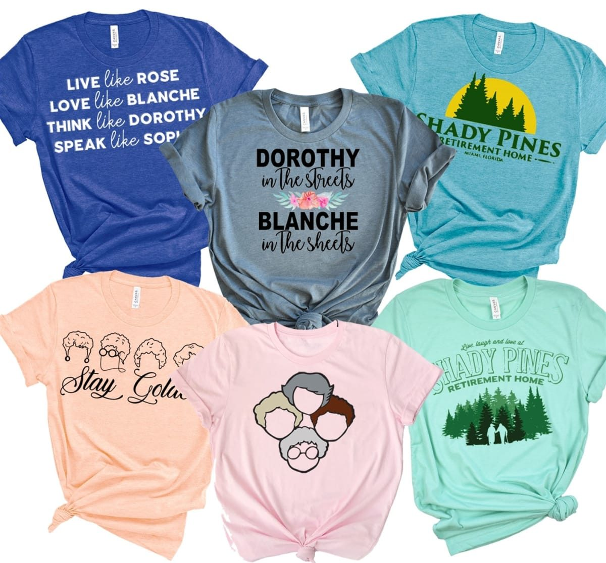 golden girls womens tees in many colors