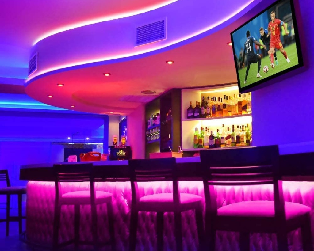 govee light strip at bar for large decor