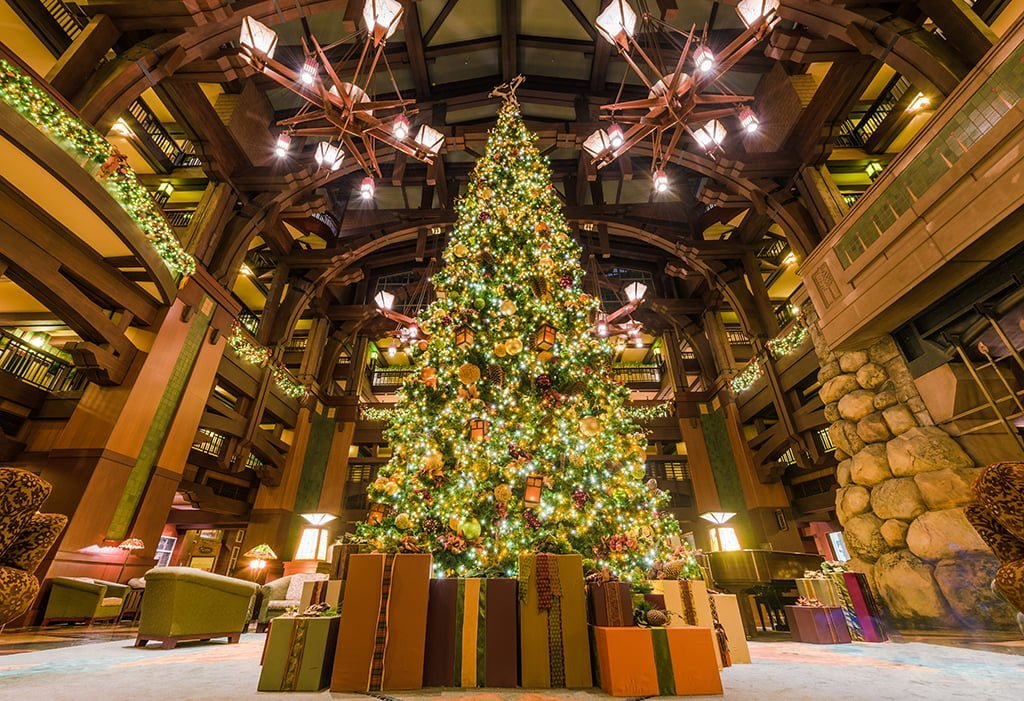 christmas tree at grand californian resort