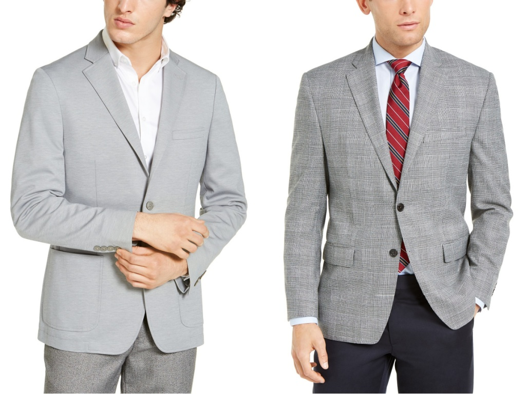 gray sports coats on two guys