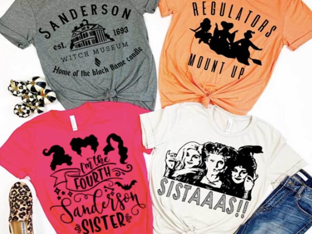 hocus pocus halloween tshirts four stock images
