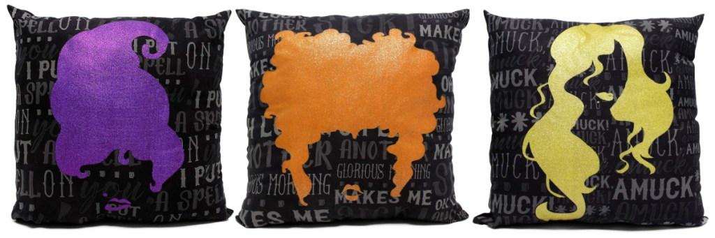 hocus pocus sanderson sisters silhouette pillows