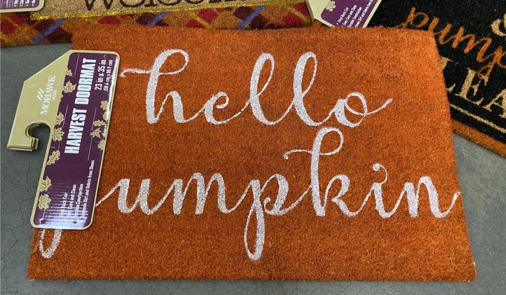 hello pumpkin mat at sams club