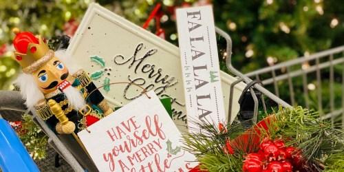 50% Off Christmas Decor on HobbyLobby.com | Throws, Wall Art & More