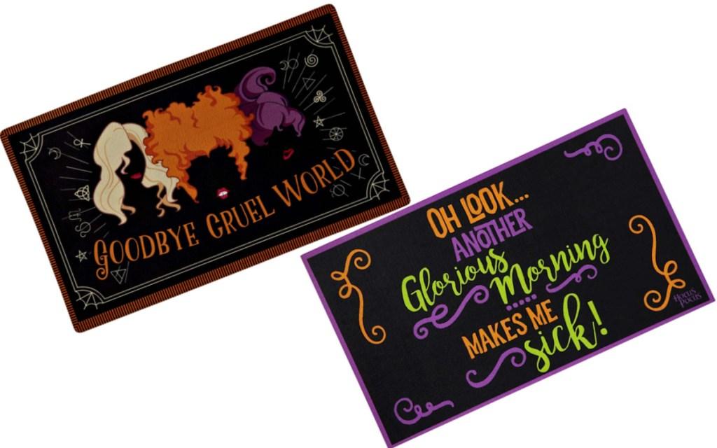 halloween doormats with hocus pocus sayings
