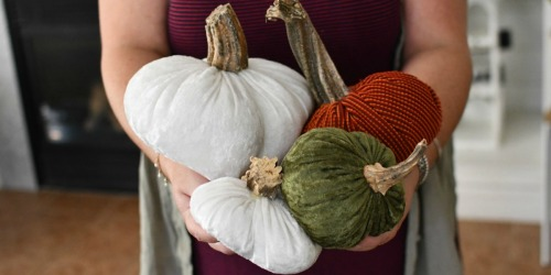 Make These Easy & Festive Velvet Pumpkins at Home!