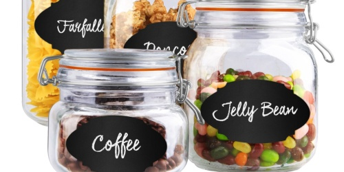 4-Piece Glass Canister Set w/ Labels Just $11.64 on Walmart.com (Regularly $18)