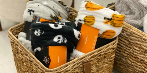 Hyde and Eek! Halloween Throw Blankets Only $10 at Target