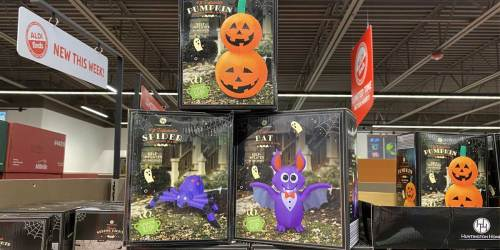 Light-Up 4′ Halloween Inflatables Just $12.99 at ALDI   Self-Inflate in Seconds