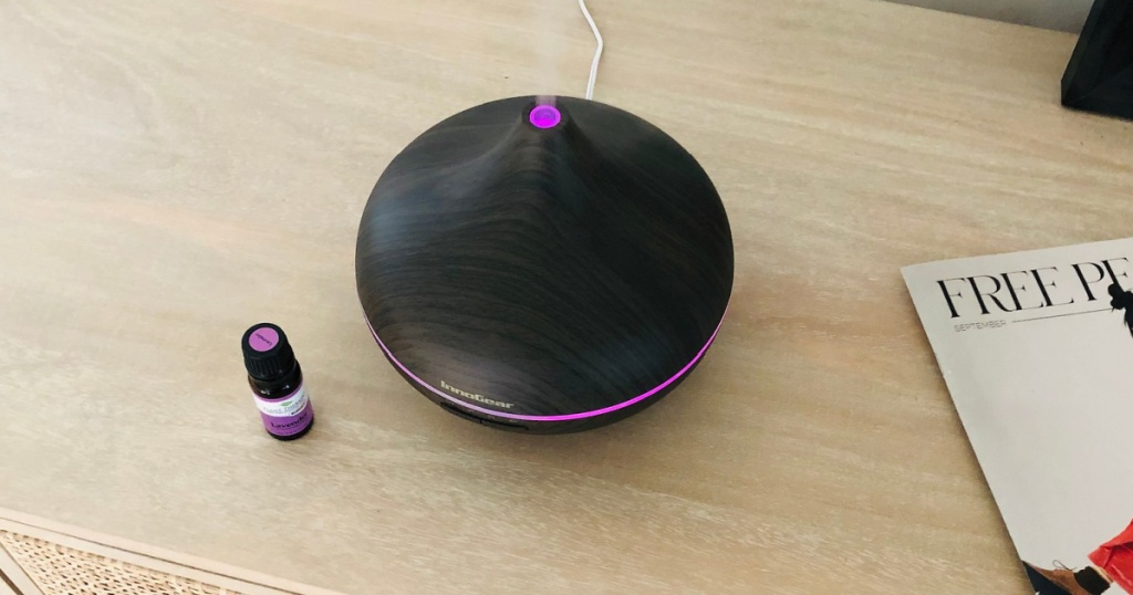 innogear oils diffuser next to essential oils