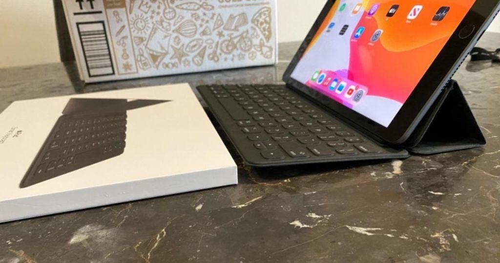 ipad keyboard with ipad and box