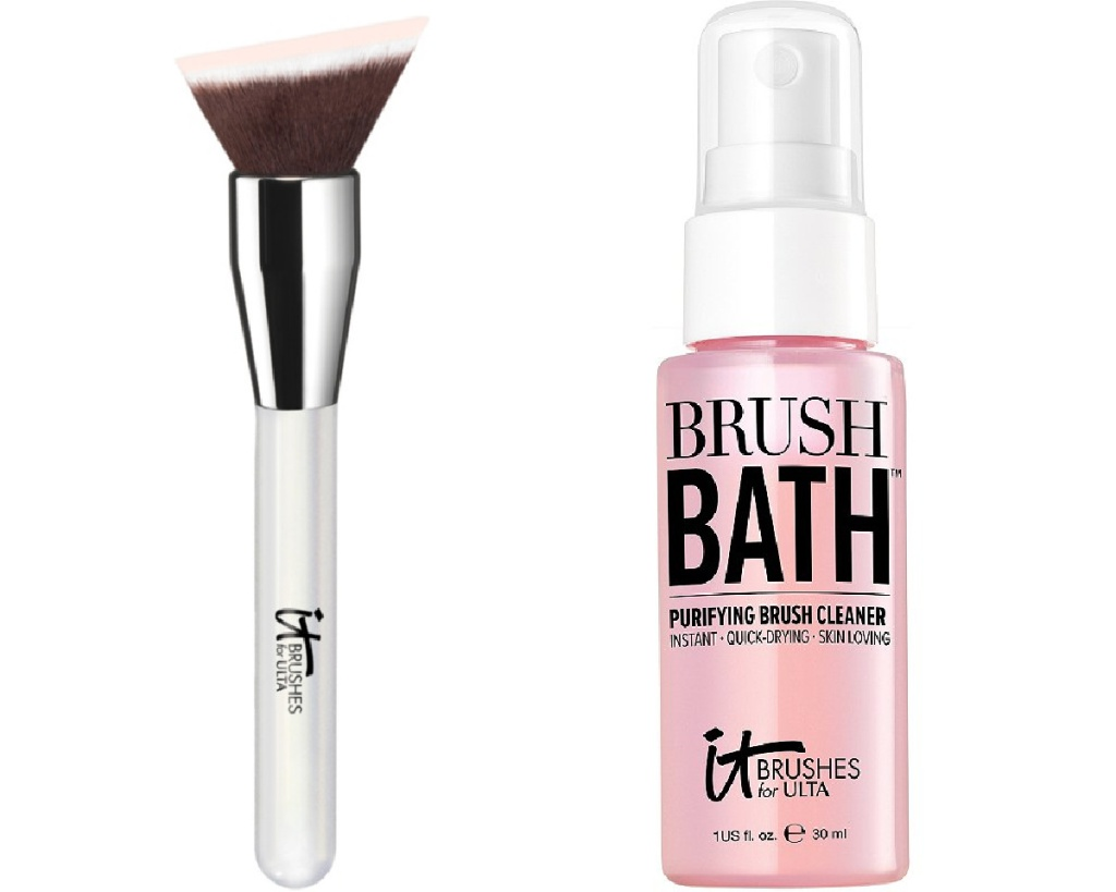 it cosmetics makeup brush and cleanser