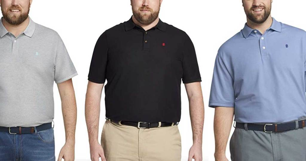 men's polo shirts in large sizes