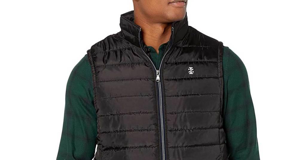 Man wearing Izod vest