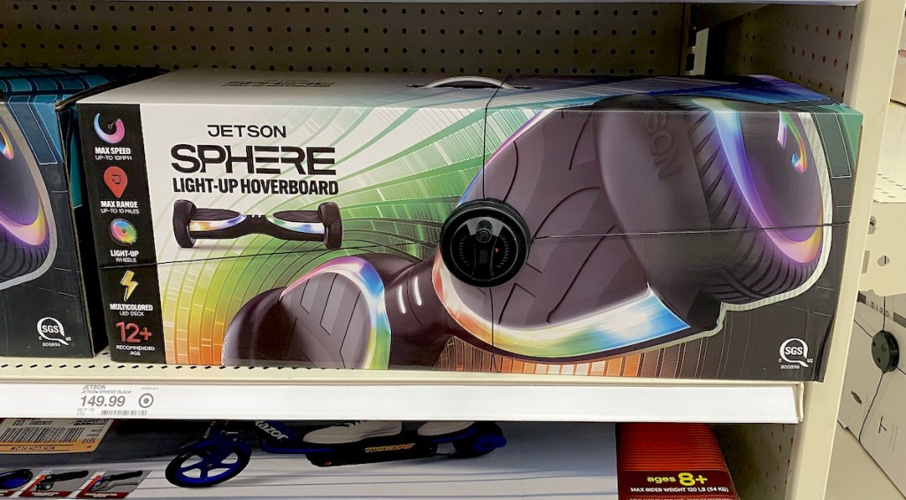jetson hoverboard in box in store shelf