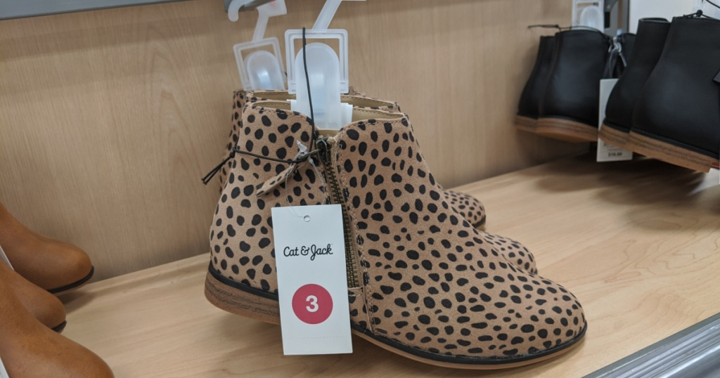 girls leopard print booties at target in store