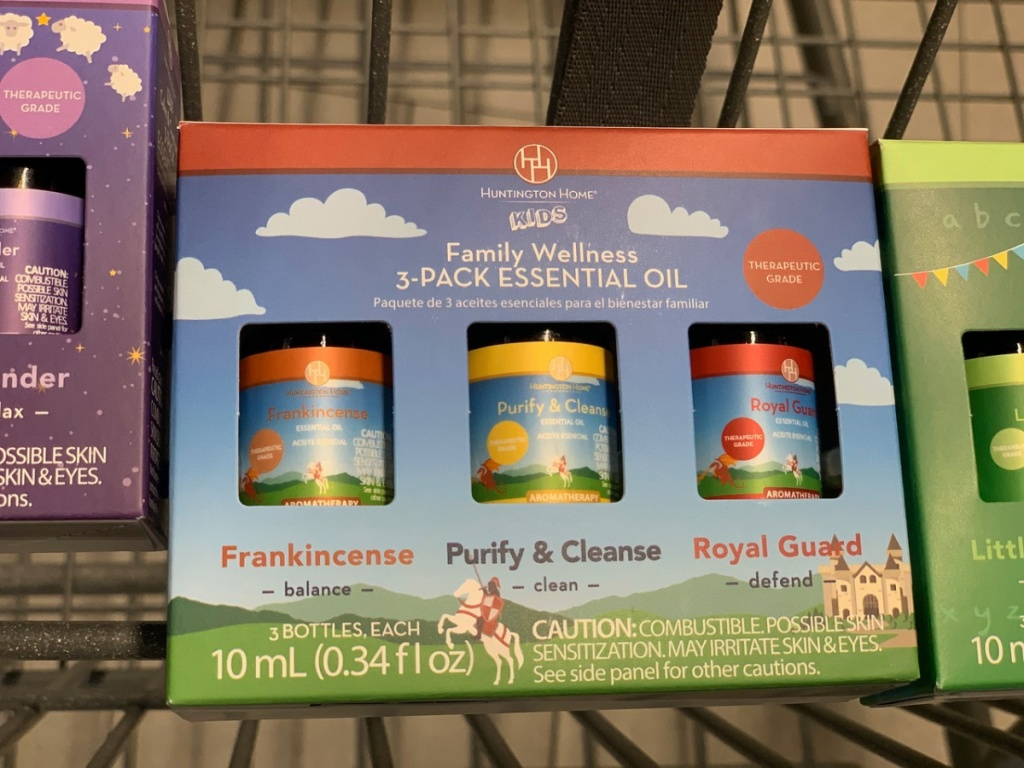 shopping cart with package of essential oils