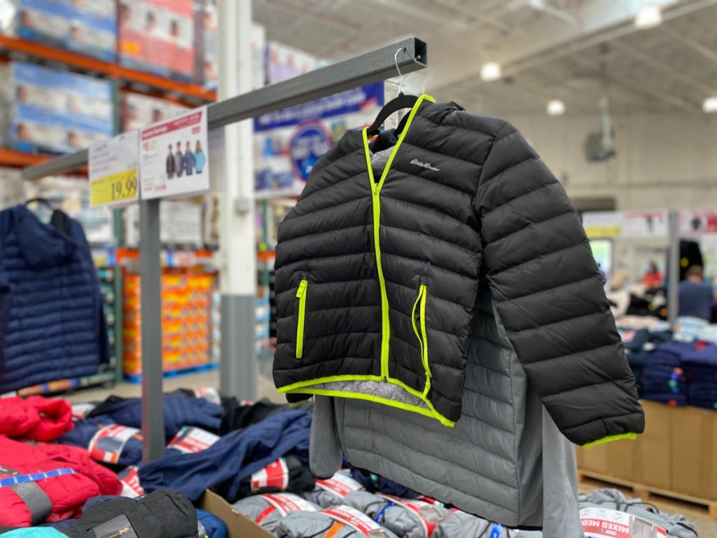 store display showing kids jackets