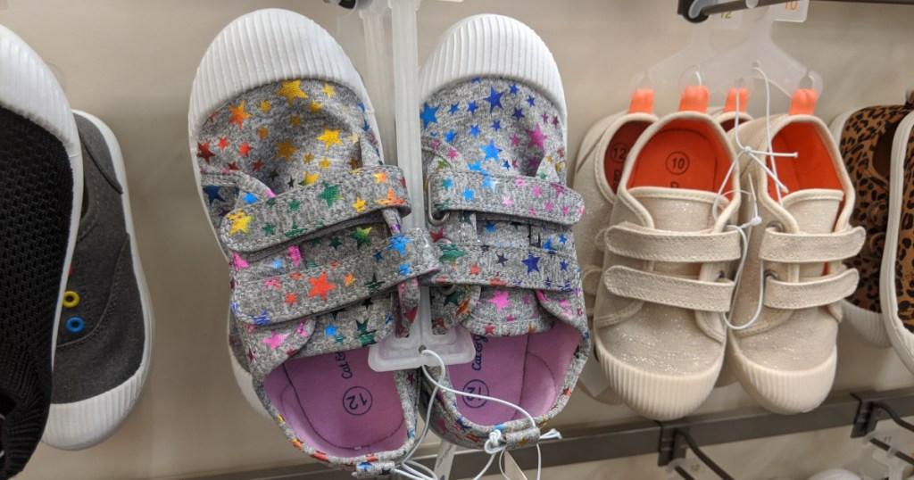 kids shoes on hanger at target