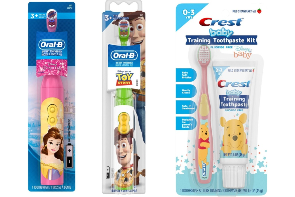 disney toy story and baby toothbrush