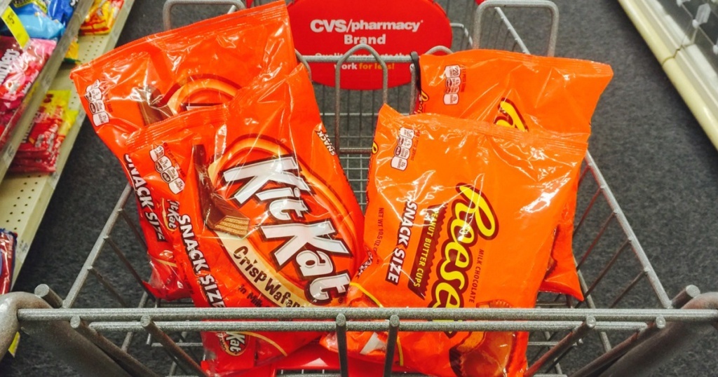 kit kat and reese's in cvs cart