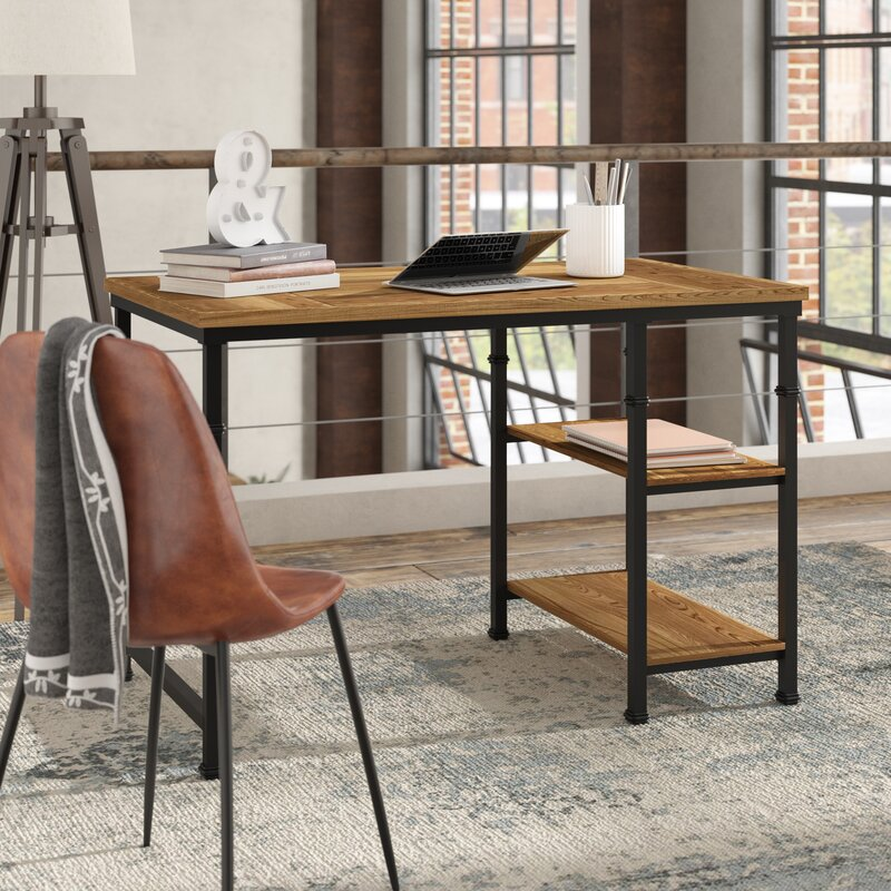 knapp desk brown desk with leather chair