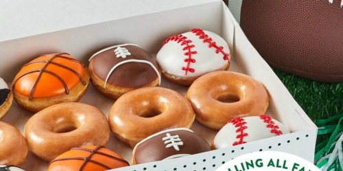 Krispy Kreme Limited Time Sports Dozen Now Available | Original Glazed Dozen ONLY $5 on September 25th
