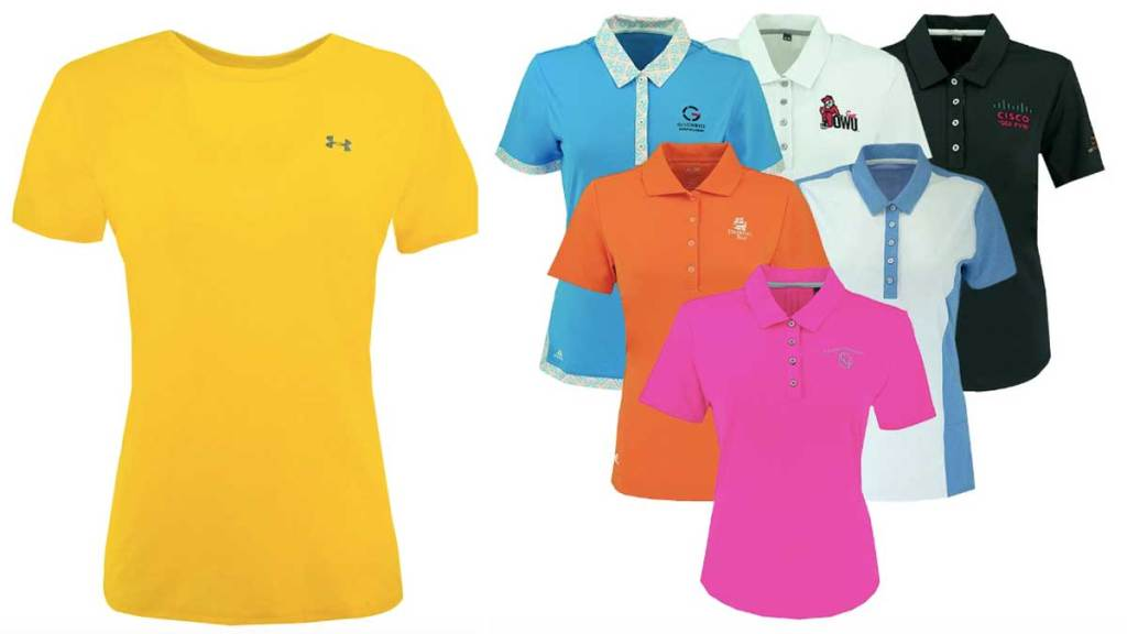 women's shirts and polos