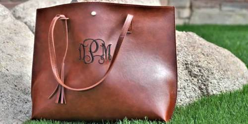 Monogram Designer Tote Just $19.99 Shipped on Jane.com (Regularly $38) | Available in 8 Colors