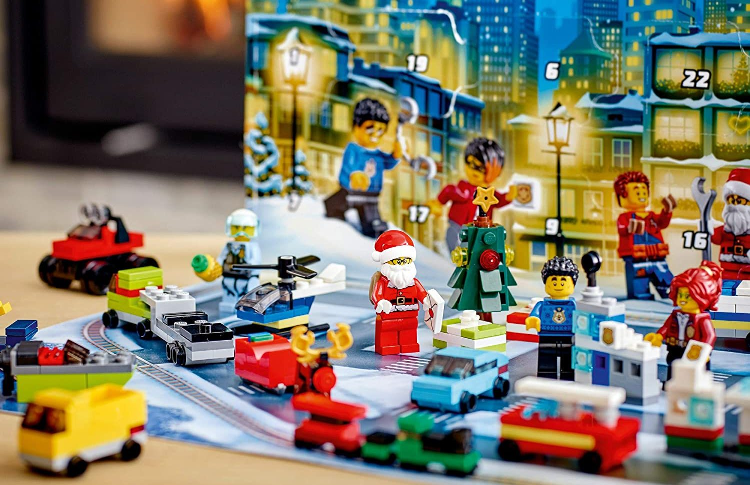 lego city advent calendar with minifigures