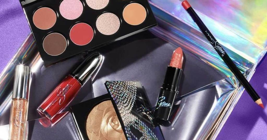 makeup collection on a table
